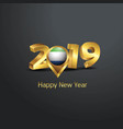 happy new year 2019 golden typography with sierra vector image vector image