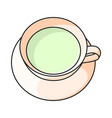 icon cup of green tea on vector image vector image
