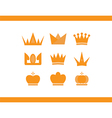 icons crowns set vector image