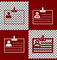 id card sign bordo and white icons and vector image vector image