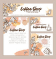 identity template coffee page vector image vector image