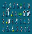 isometric large set with passengers vector image vector image