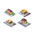 isometric small business shops concept atelier vector image vector image