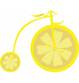 Lemon Bicycle vector image vector image