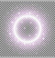light ring with stardust purple color vector image vector image