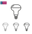 lighting line icon on white background editable vector image vector image