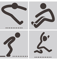 long jump vector image