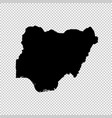 map nigeria isolated black vector image vector image