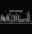 mississauga silhouette skyline canada vector image vector image