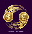money currency exchange dollar gbp vector image vector image