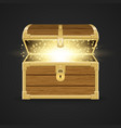 opened realistic wooden chest vector image vector image
