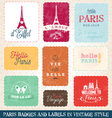 Paris Greeting card Elements vector image vector image