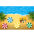 People hanging out on the beach vector image vector image