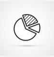 Pie graph flat line trendy black icon eps10