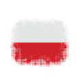 Poland flag symbol halftone vector image