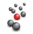 red ball within black ones vector image vector image