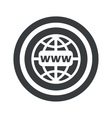 Round black global network sign vector image vector image