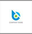 round design logo vector image