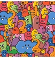 seamle pattern Funny monsters graffiti Hand vector image