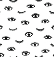 seamless eye pattern in the bohemian style vector image