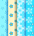 set of 4 forget-me-not seamless pattern vector image vector image