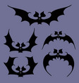 set of bats for halloween vector image vector image