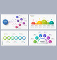 set of contemporary infographic designs concepts vector image vector image