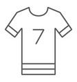 soccer uniform thin line icon sport and clothes vector image