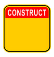 sticker construct safety sign vector image vector image