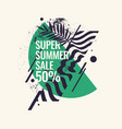 Super summer sale abstract background with palm