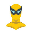 superhero in flat cartoon style vector image