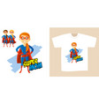 superhero woman supermom cartoon character vector image