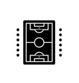 table soccer play black icon sign on vector image