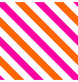 tile pattern with pink and orange stripes vector image vector image