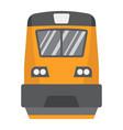 train flat icon transport and vehicle locomotive vector image