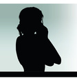 woman silhouette with hand gesture hands on the vector image