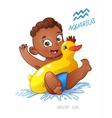 zodiac sign aquarius child vector image vector image