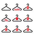 hanger sale buy 1 get 1 free buttons set vector image