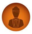 orange emblem guard person icon vector image