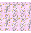 Seamless spring pattern with the branch of a vector image