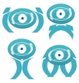 Abstract alien characters vector image