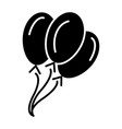 balloons icon black sign on vector image