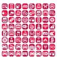 big color auto icons set vector image