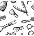 Seamless pattern set tool for BarberShop vector image