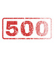 500 rubber stamp vector image vector image