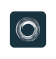 abstract circle icon Rounded squares button vector image