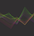 abstract pramid from color lines vector image vector image