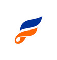 abstract wings letter f logo icon