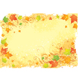 autumn stationarynd leaves vector image vector image