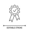 award medal linear icon vector image